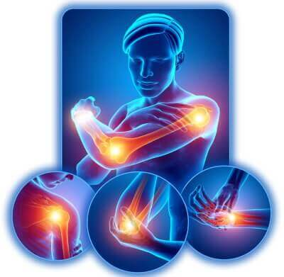 Arm elbow wrist joint pain