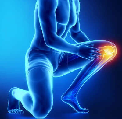 knee pain injured and sprained