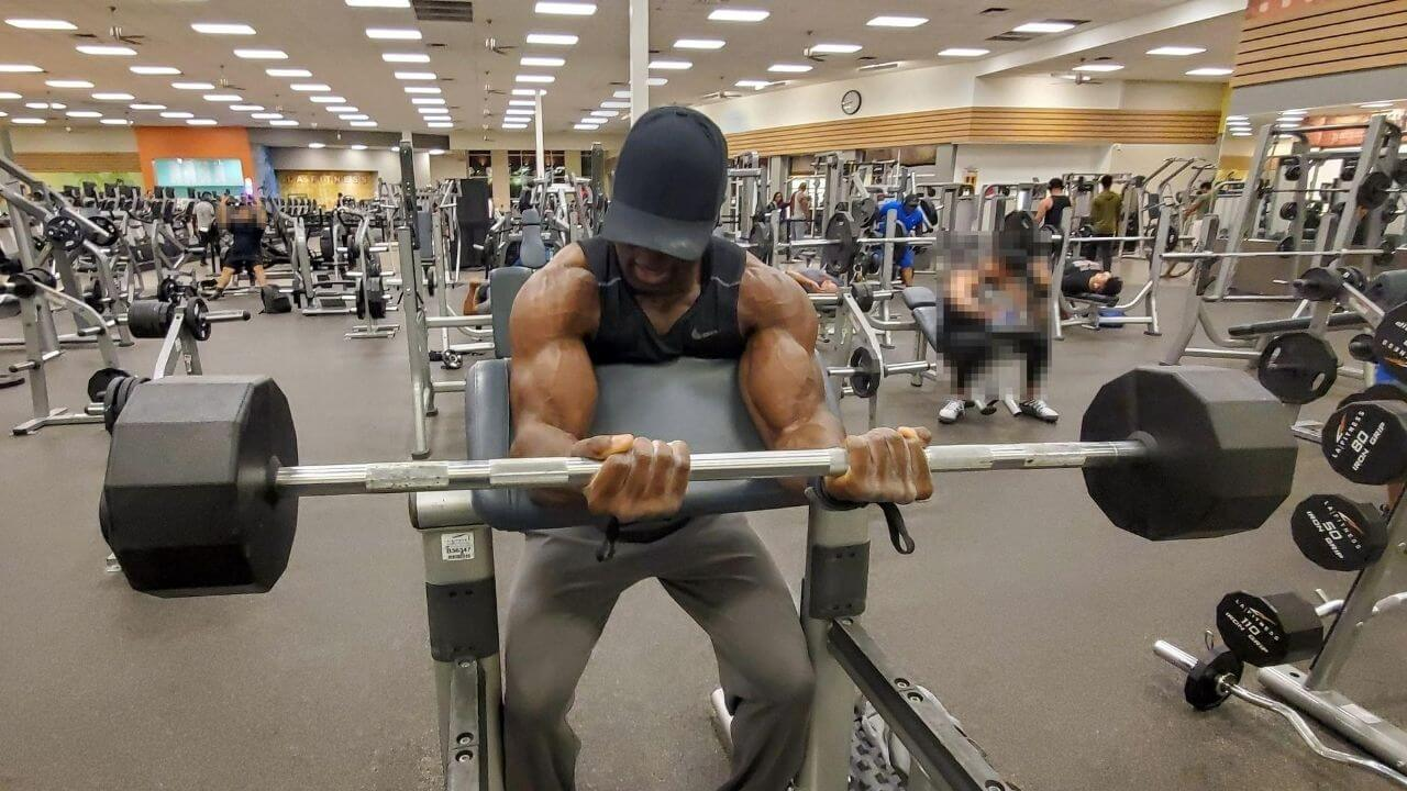 Biceps curl elbow pain