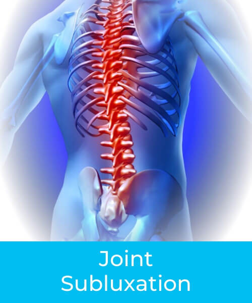 Illustration of human spine with inflammation back pain