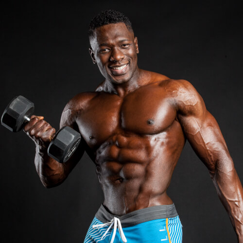 Nurudeen Tijani Posing Physique Abs and Chest
