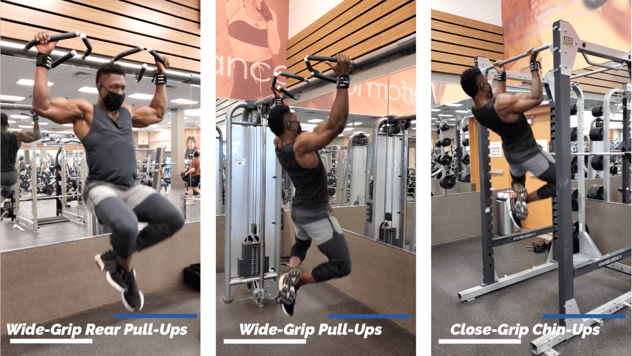 Nurudeen performing a variation of pull-ups and chin-ups